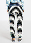 stand up velvet joggpants, stripe the sky, Hosen, Blau