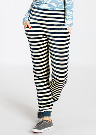 stand up velvet joggpants, stripe the sky, Jog Pants, Blau