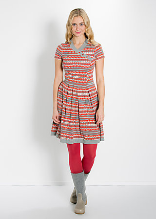 asian infusion dress, seaweed stripes, Jerseykleider, Grau