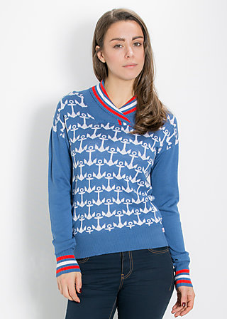 bleib troyer pully, pull the anchor, Pullover, Blau