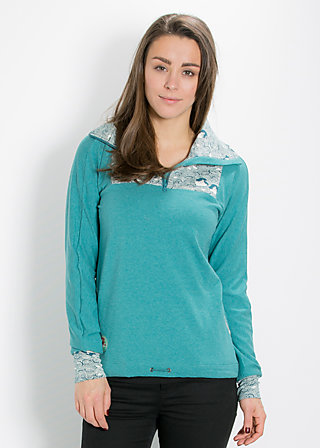 cool catfish troyer, deep sea, Pullover, Blau