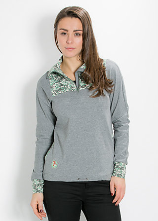 cool catfish troyer, grey sky, Pullover, Grau