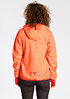 cosy rainstorm survival zip, sunset check, Jacken, Rot