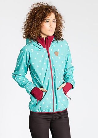 cosy rainstorm survival zip, ocean dots, Jacken, Blau