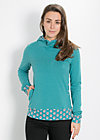 hooray and up sweat, deep sea, Pullover, Blau
