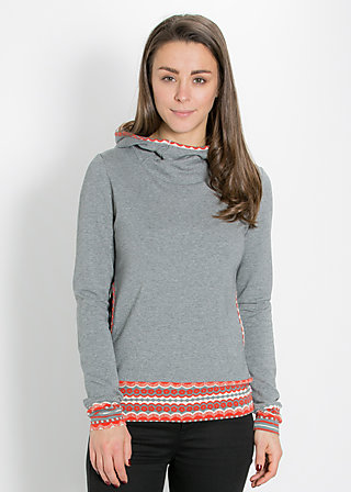 hooray and up sweat, grey sky, Pullover & Hoodies, Grau