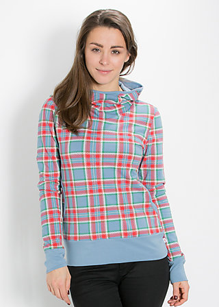 hooray and up sweat, north sea check, Pullovers, Blau
