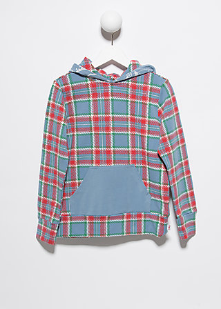 käptn's hoody, north sea check, Pullover, Blau