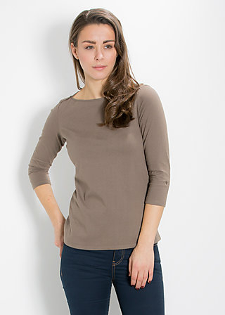 logo 3/4 u-shirt, maroon mushroom, Shirts, Braun