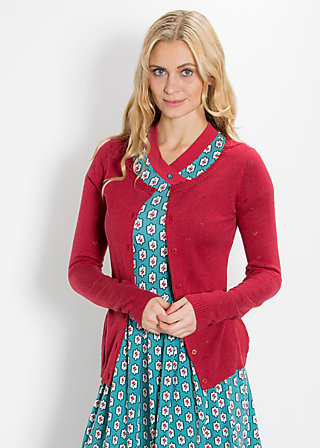 logo cardigan, double deck ajour, Cardigan, Rot