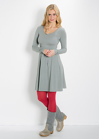 logo dress, autumn gray, Kleider, Grau