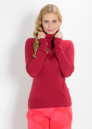 logo knit turtle, double deck ajour, Strickwaren, Rot