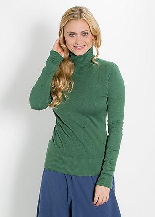 logo knit turtle, wild vert ajour, Strickwaren, Grün