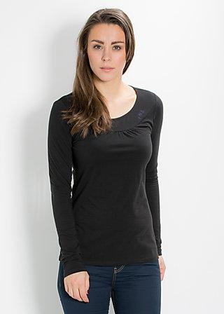 logo longsleeve u-shirt, classy black, Shirts, Schwarz