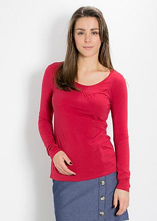 logo longsleeve u-shirt, delicious red, Shirts, Rot