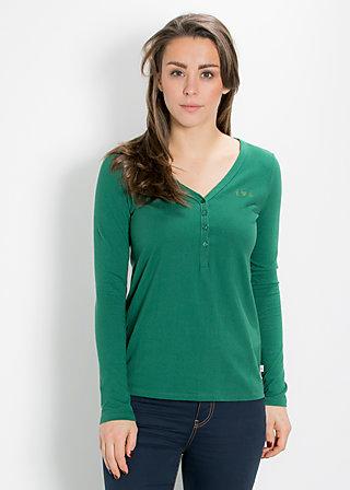 logo longsleeve v-shirt, camouflage green, Shirts, Grün