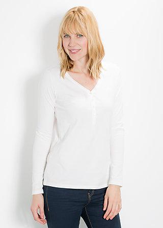 logo longsleeve v-shirt, frosting ice, Shirts, Weiß