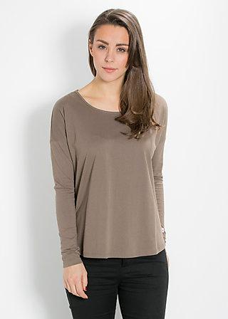 logo pullover, maroon mushroom, Pullover, Braun