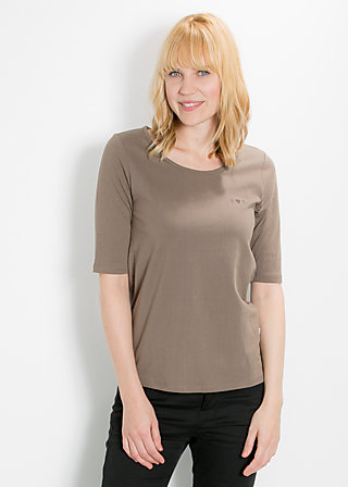 logo shortsleeve u-shirt, maroon mushroom, Shirts, Braun