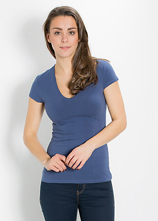logo shortsleeve v-shirt, blue hour, Shirts, Blau