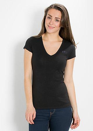 logo shortsleeve v-shirt, classy black, Shirts, Schwarz