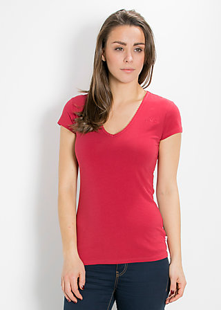 logo shortsleeve v-shirt, delicious red, Shirts, Rot