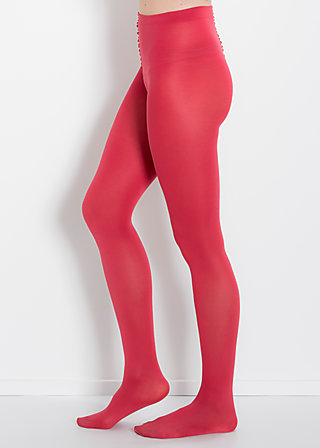 mild tights, red leg, Strumpfhosen, Rot