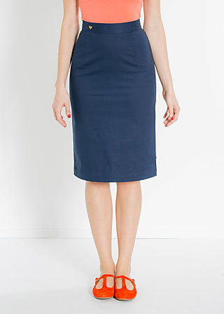 officeschocker pencil , deep blue, Skirts, Blau
