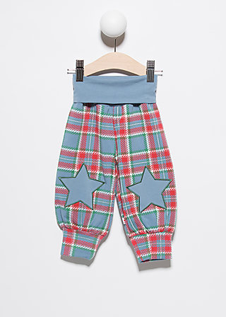 pumperlgsund baby boy, north sea check, Trousers, Blau