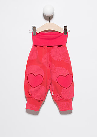 pumperlgsund baby girl, calm chrysanth, Trousers, Rot