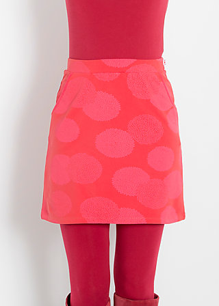 reling rose skirt, calm chrysanth, Jerseyröcke, Rot