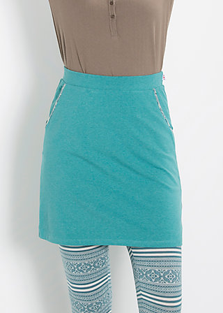 reling rose skirt, deep sea, Jersey Skirts, Blau