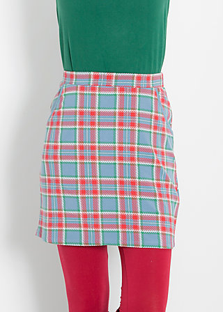 reling rose skirt, north sea check, Jerseyröcke, Blau