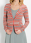 sailor mary zip, seaweed stripes, Cardigans, Grau