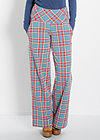 so long sailorette pants, north sea check, Hosen, Blau