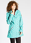 wild weather long anorak, ocean dots, Jacken, Blau