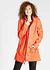 wild weather long anorak, sunset check, Jacken, Rot