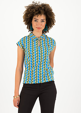Shirt blusover, tendril tarzan, Shirts, Blue