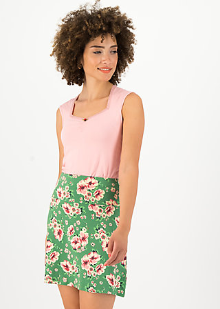 Jersey Skirt cloche du soleil, floral florida, Skirts, Green