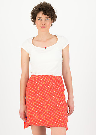 cloche du soleil, orange dot com, Skirts, Red