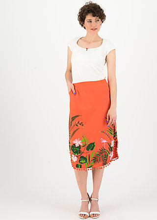 coast to coast jupe, tropical heat, Skirts, Red