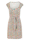 flamingo bingo dress, fine flower, Dresses, White