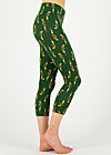 happy holiday legs, parrot parody, Leggings, Green