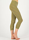 happy holiday legs, tiki gold, Leggings, Yellow