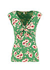 Sleeveless Top high end, floral florida, Shirts, Green