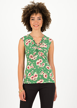 high end tank, floral florida, Shirts, Grün