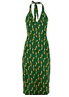 Halterneck Dress palo santos, parrot parody, Dresses, Green