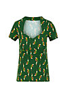 T-Shirt pow wow heart, parrot parody, Shirts, Grün