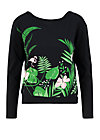 Sweater pure cure, tropical night, Jumpers & Sweaters, Black