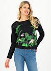Sweater pure cure, tropical night, Pullover & Sweatshirts, Schwarz